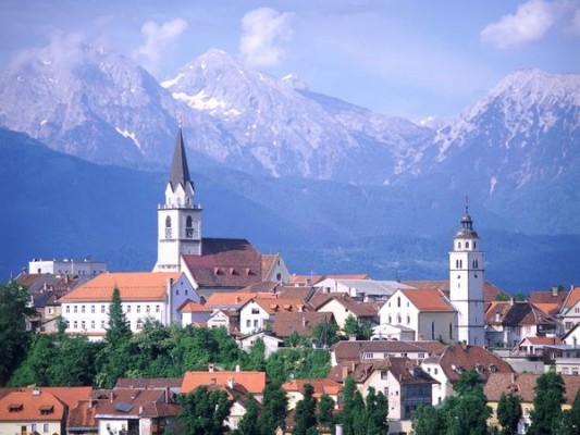 Ancient town Kranj in Slovenia