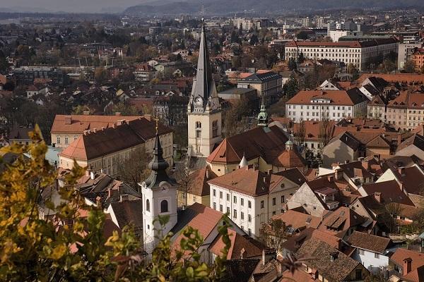 Panoramic picture of Ljubljana City