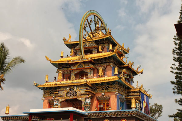 Nyingmapa Tibetan Monastery And Golden Temple
