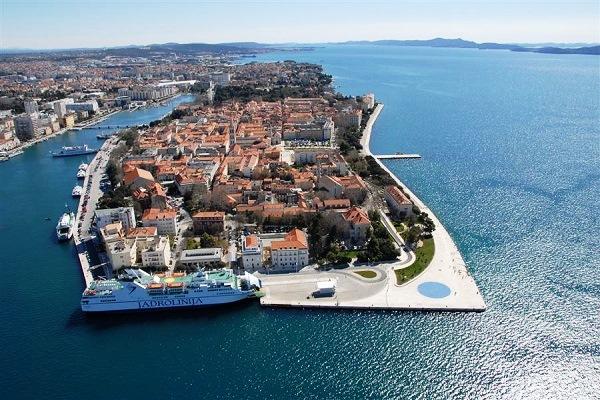 Zadar city in Croatia