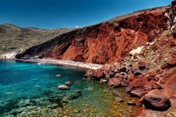 Santorini's Red Beach Akrotiri, Greek Islands